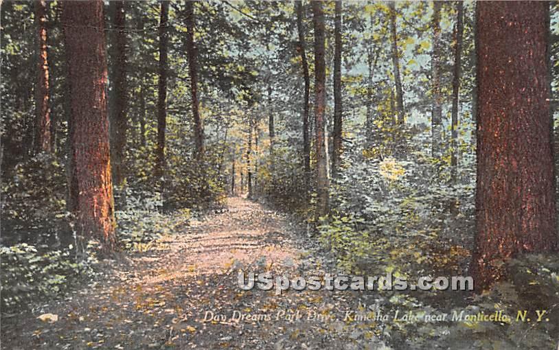 Day Dreams Park Drive - Kiamesha Lake, New York NY Postcard