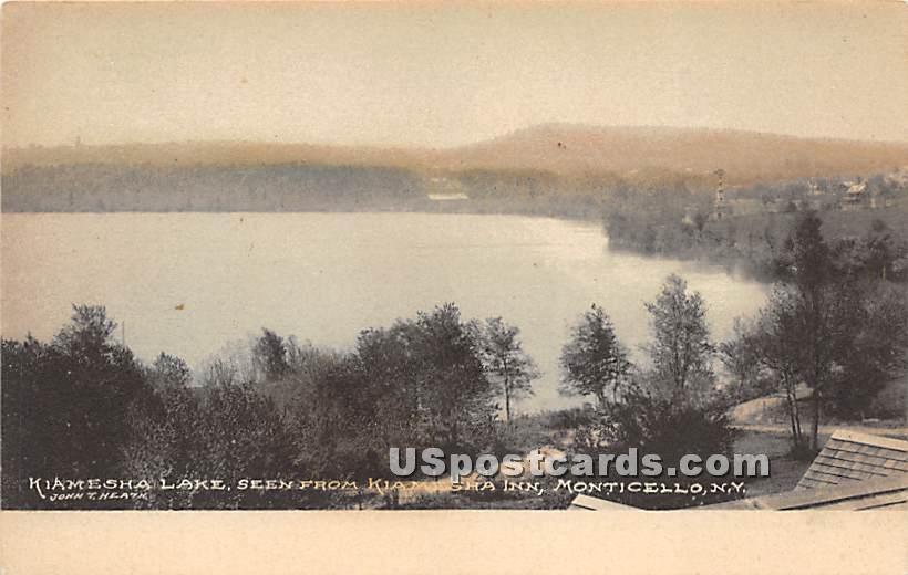 Seen from Kiamesha Inn - Kiamesha Lake, New York NY Postcard
