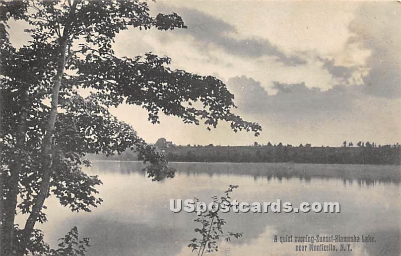 Quiet Evening - Kiamesha Lake, New York NY Postcard