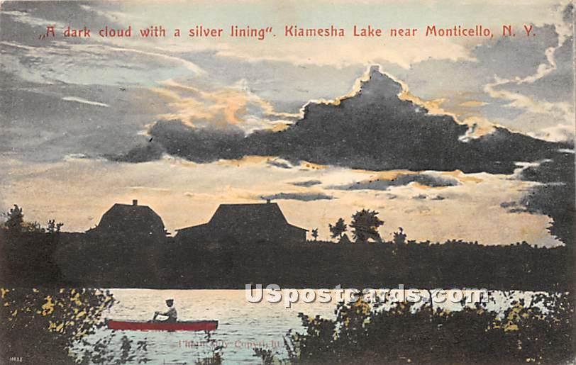 Dark Cloud with a Silver Lining - Kiamesha Lake, New York NY Postcard