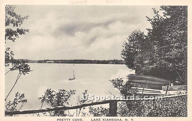 Pretty Cove - Kiamesha Lake, New York NY Postcard