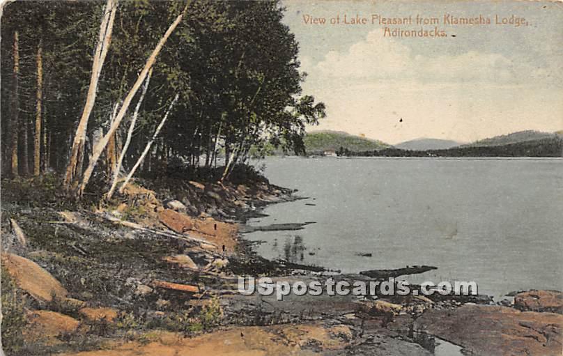 View of Lake Pleasant - Kiamesha Lake, New York NY Postcard