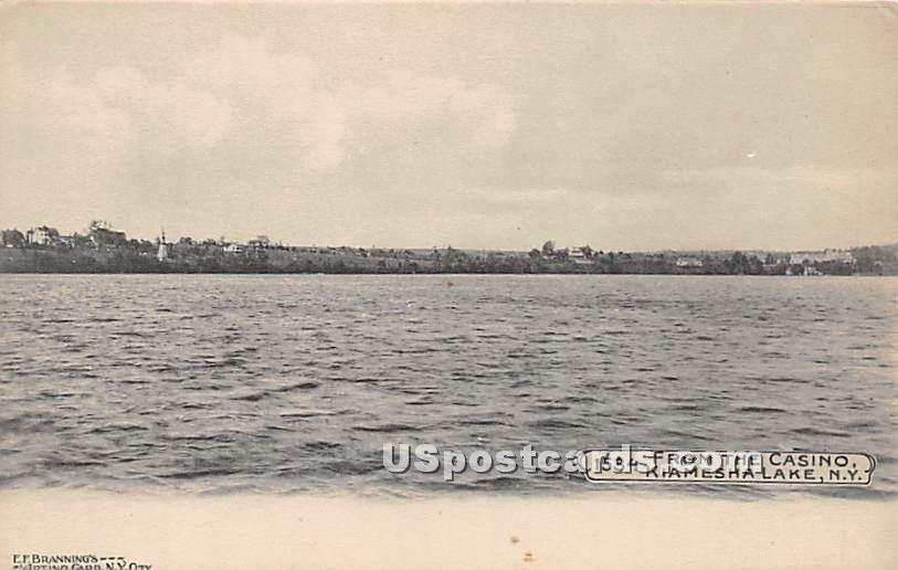 View from Casino - Kiamesha Lake, New York NY Postcard