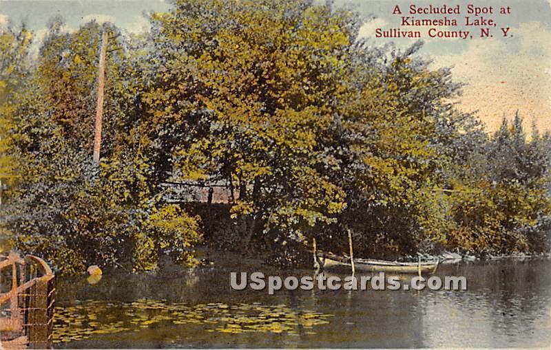 Secluded Spot - Kiamesha Lake, New York NY Postcard