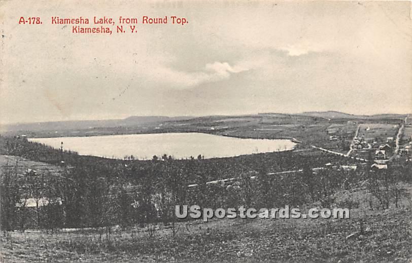 Lake from Round Top - Kiamesha Lake, New York NY Postcard