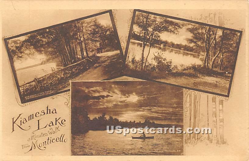 Kiamesha Lake 5 Minutes Walk - New York NY Postcard