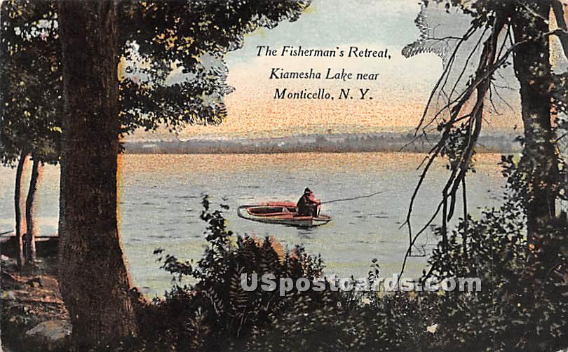 Fisherman's Retreat - Kiamesha Lake, New York NY Postcard