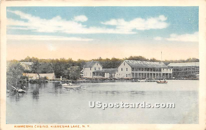 Kiamesha Casino - Kiamesha Lake, New York NY Postcard