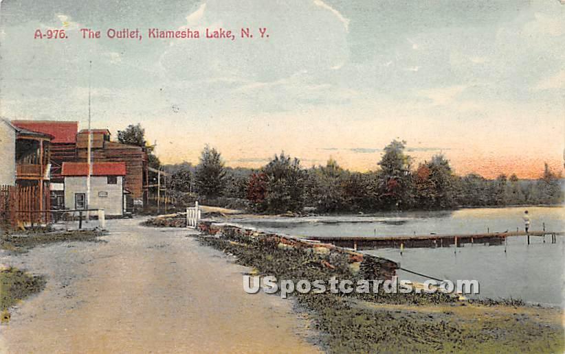 The Outlet - Kiamesha Lake, New York NY Postcard