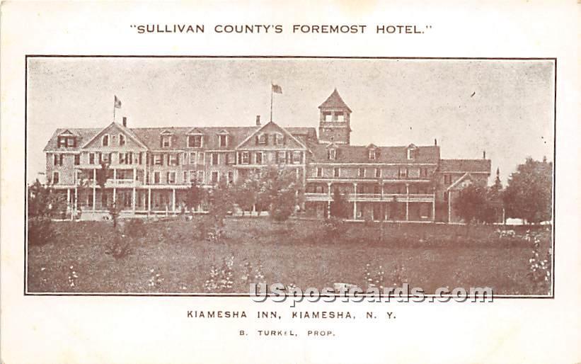 Sullivan County's Foremost Hotel - Kiamesha Lake, New York NY Postcard