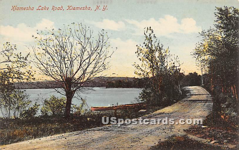 Kiamesha Lake Road - New York NY Postcard