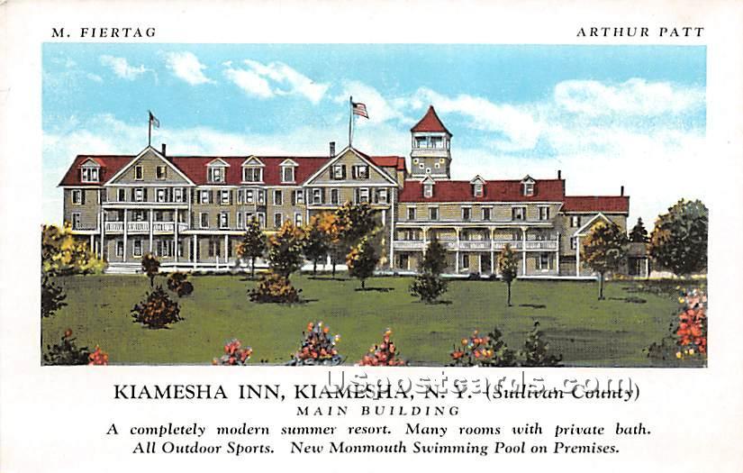 Kiamesha Inn - Kiamesha Lake, New York NY Postcard