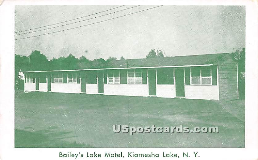 Bailey's Lake Motel - Kiamesha Lake, New York NY Postcard