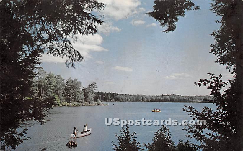 Bailey's Lake Campsite - Kiamesha Lake, New York NY Postcard
