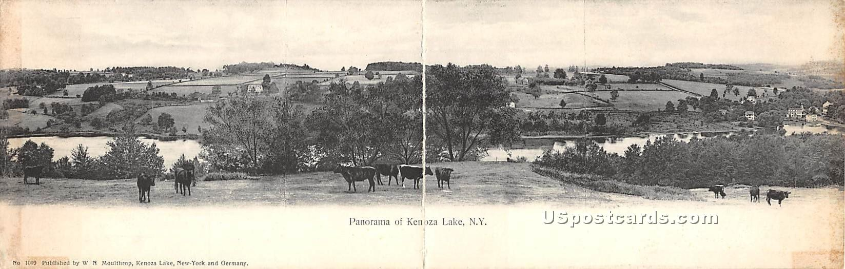 Panorama of Kenoza Lake - New York NY Postcard