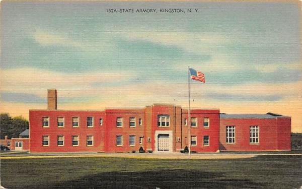 State Armory Kingston, New York Postcard