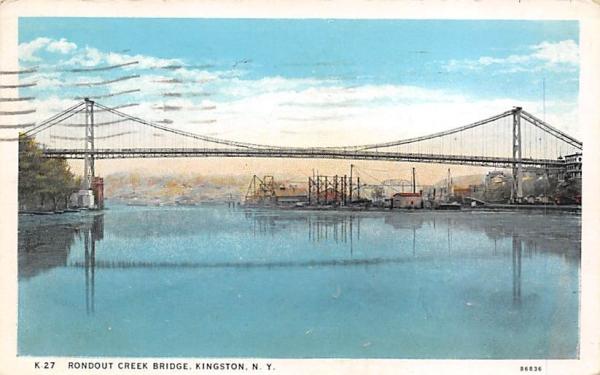 Roudout Creek Bridge Kingston, New York Postcard