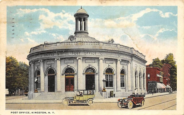 Post Office Kingston, New York Postcard