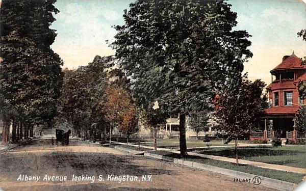 Albany Avenue Kingston, New York Postcard