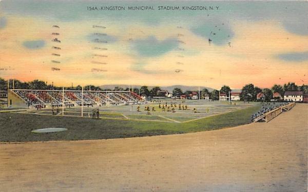 Kingston Municipal Stadium New York Postcard