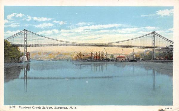 Rondout Creek Bridge Kingston, New York Postcard