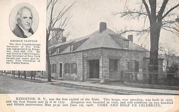George Clinton Senate House 1676 Kingston, New York Postcard