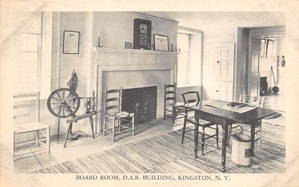 Board Room DAR Building Kingston, New York Postcard