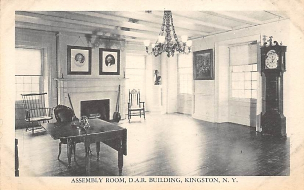 Assembly Room DAR Building Kingston, New York Postcard