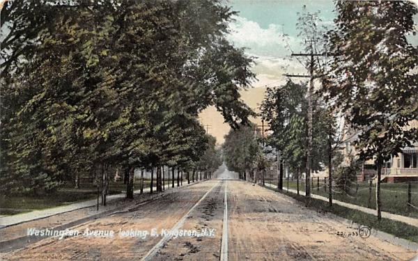 Washington Avenue Kingston, New York Postcard