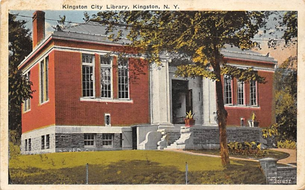 City Library Kingston, New York Postcard