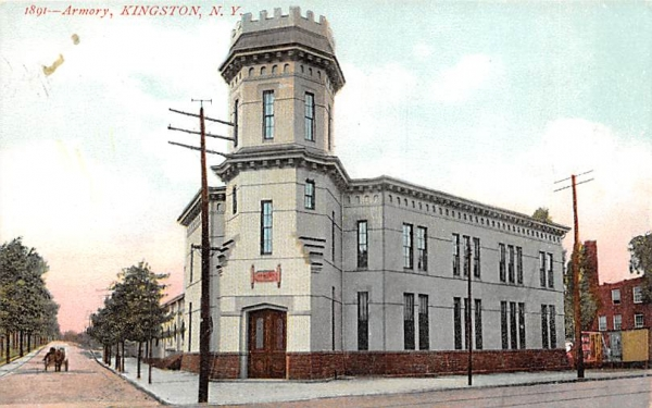 1891 Armory Kingston, New York Postcard