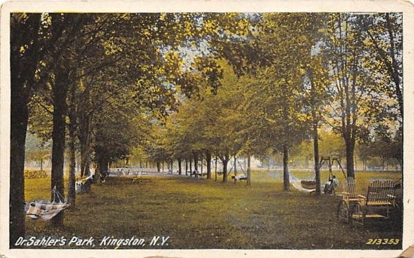 Dr Sahler's Park Kingston, New York Postcard