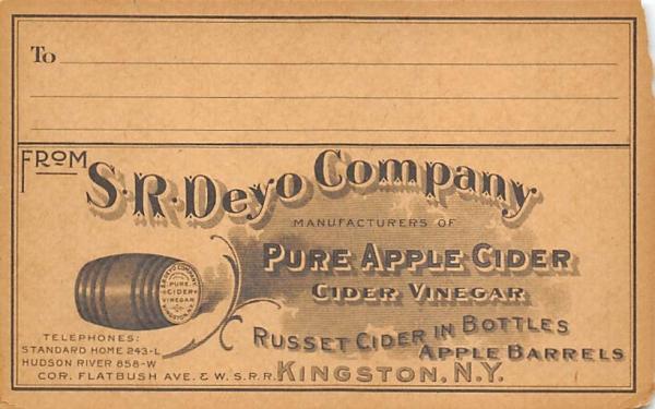 SR Deyo Company Kingston, New York Postcard