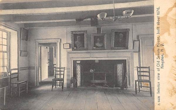Old Senate House Interior Kingston, New York Postcard