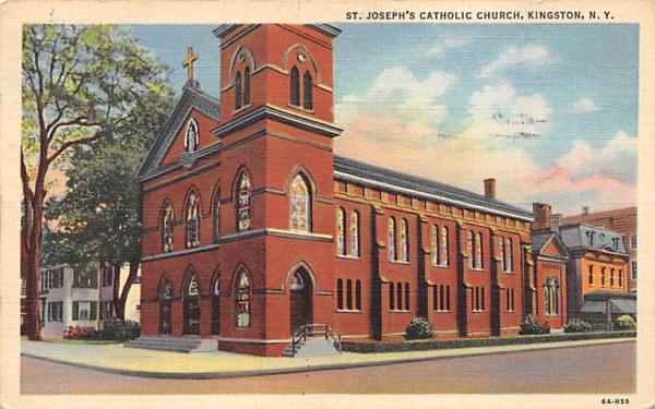 St Josephs Catholic Church Kingston, New York Postcard