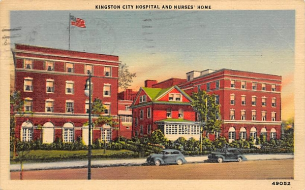 City Hospital and Nurses Home Kingston, New York Postcard