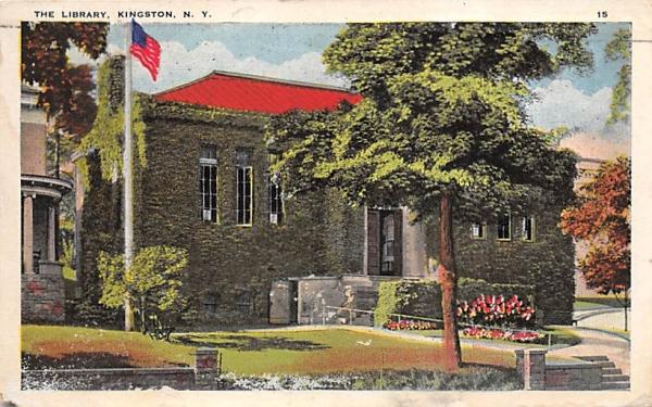 Library Kingston, New York Postcard