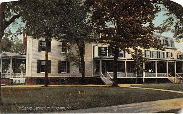 Dr Sahler's Sanitarium Kingston, New York Postcard