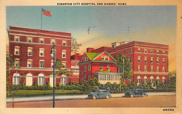 Hospital and Nurses Home Kingston, New York Postcard
