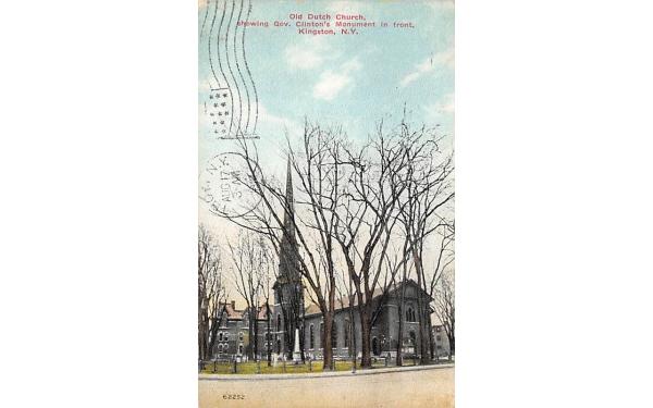 Old Dutch Church Kingston, New York Postcard