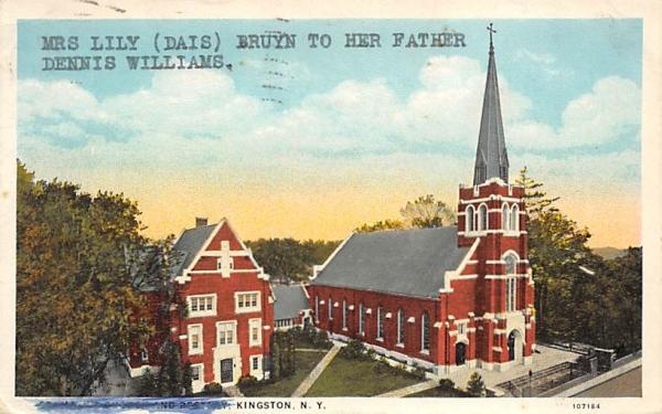 Church Kingston, New York Postcard
