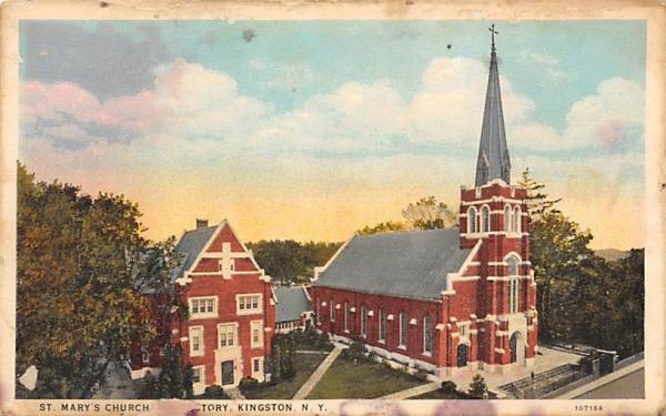 St Marys Kingston, New York Postcard