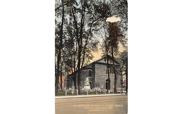 Old Reformed Protestant Dutch Church Kingston, New York Postcard