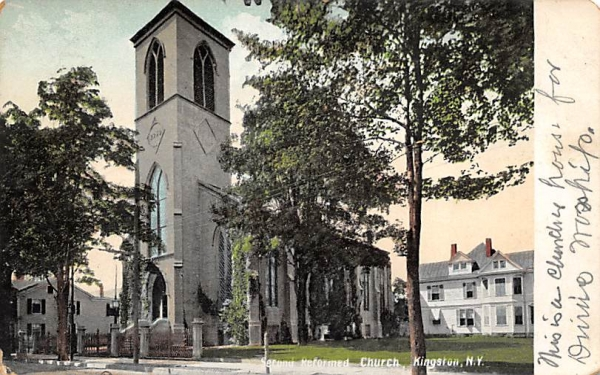 Second Reformed Church Kingston, New York Postcard