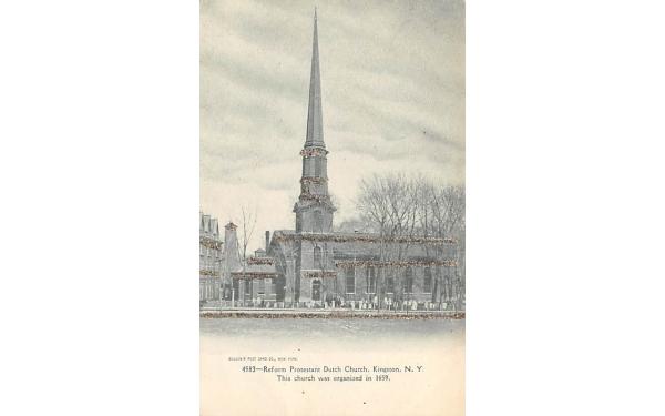 Reform Protestant Dutch Church Kingston, New York Postcard