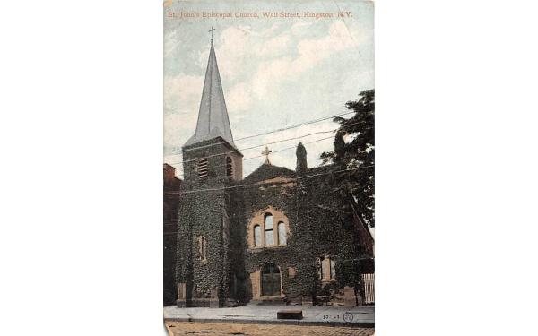 St Johns Church Kingston, New York Postcard