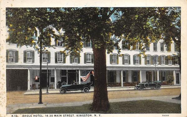 Eagle Hotel Main Street Kingston, New York Postcard