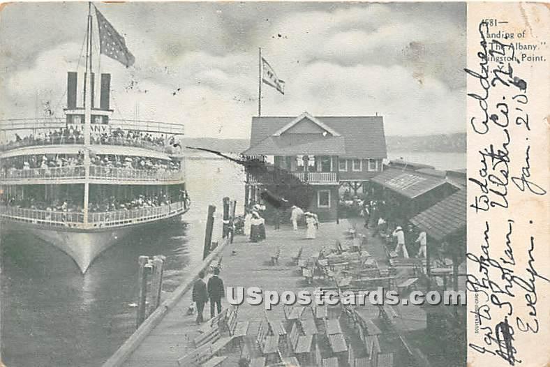 Landing, The Albany - Kingston Point, New York NY Postcard