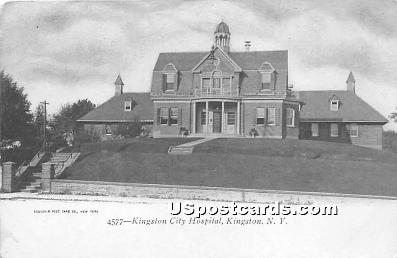Kingston City Hospital - New York NY Postcard