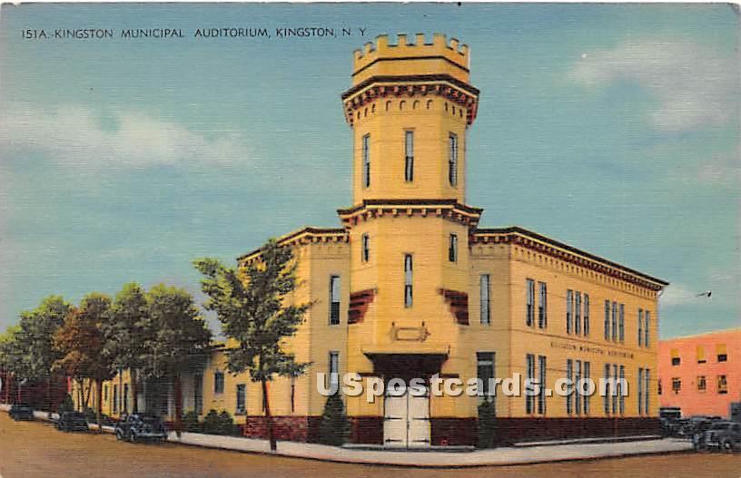 Kingston Municipal Auditorium - New York NY Postcard